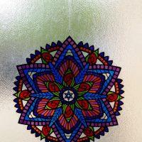 Mandala Style Glass Painted Lightcatcher.