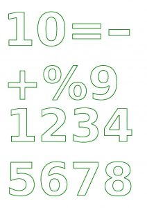 Number Template.