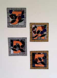 Wall Plaque Glass Painting Project.