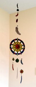 Glass Painting a Dream Catcher.