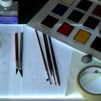 Glass Painting Equipment.