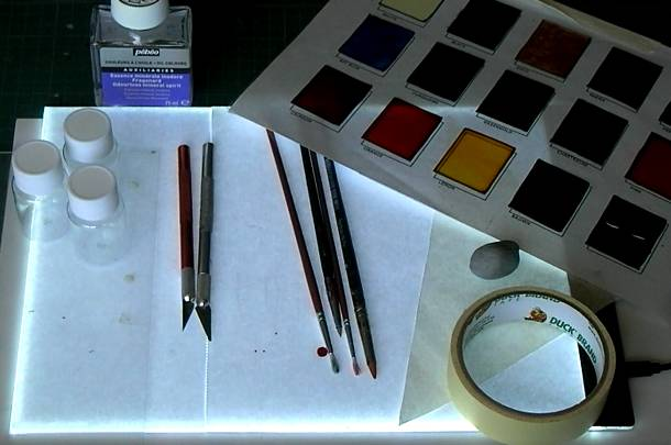Glass Painting Equipment.