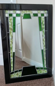 Glass Painted Art Deco Mirror. Step by Step.