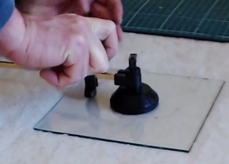 Simple Glass Cutting for glass painters.