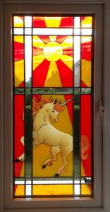Making A Faux Stained Glass Window.