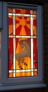 How to make a faux stained glass window.